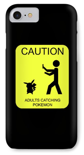 IPhone Case featuring the digital art Adults Catching Pokemon 1 by Shane Bechler