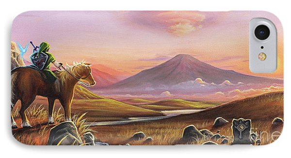 Mountain Sunset iPhone 7 Case - Adventure Awaits by Joe Mandrick