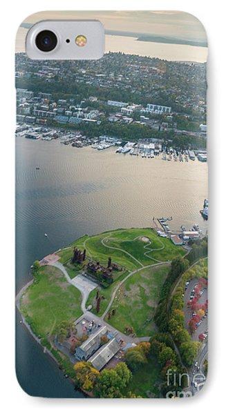 Aerial Gasworks Park IPhone Case by Mike Reid