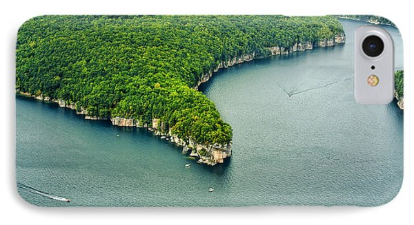 Aerial Image Of  Long Point Cliff IPhone Case by Mark Allen