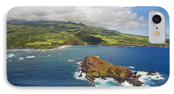 Aerial Of Alau Islet Phone Case by Ron Dahlquist - Printscapes