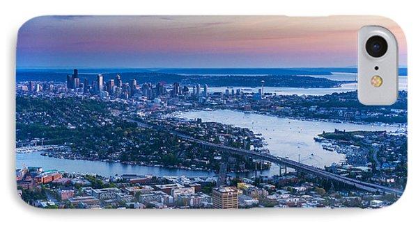 Aerial Seattle Metropolitan Area IPhone Case by Mike Reid