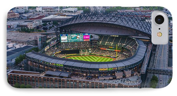 Aerial Seattle Safeco Field Mariners IPhone Case by Mike Reid