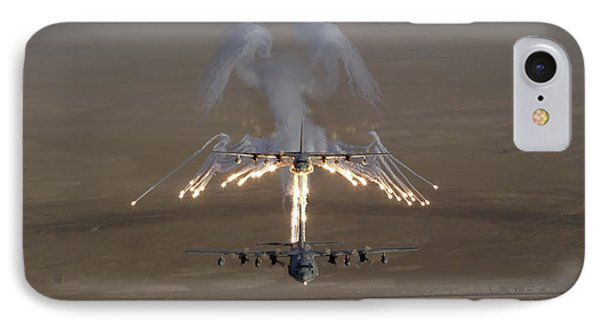Aerial Shot Over Iraq Of A Kc-130 IPhone Case