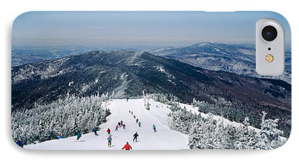 Aerial View Of A Group Of People Skiing IPhone Case