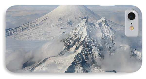 Aerial View Of Shishaldin Volcano Phone Case by Richard Roscoe