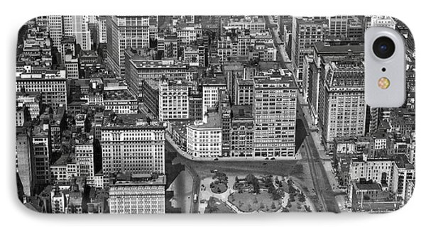 Aerial View Of Union Square IPhone Case by Underwood Archives