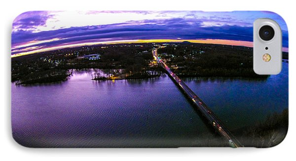 Aerial View Over Catawba River In Gaston County North Carolina IPhone Case