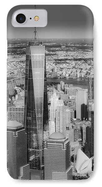 Aerial World Trade Center Wtc Bw IPhone Case by Susan Candelario