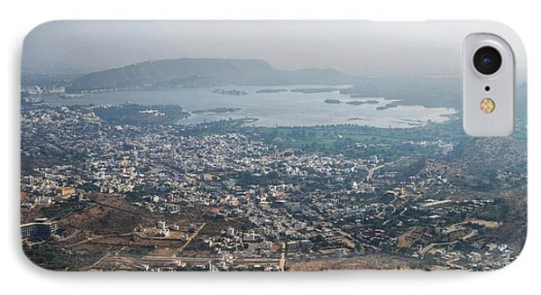 IPhone Case featuring the photograph Aeriel View Of Udaipur From Monsoon Palace by Yew Kwang