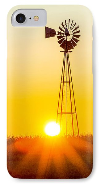 IPhone Case featuring the photograph Aermotor Sunset by Chris Bordeleau