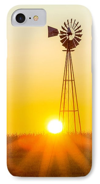 IPhone Case featuring the photograph Aermotor Sunset Vertical by Chris Bordeleau