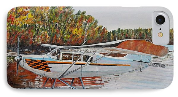 IPhone Case featuring the painting Aeronca Super Chief 0290 by Marilyn  McNish
