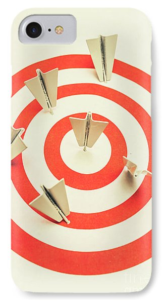 Aeroplane Target Pin Board IPhone Case by Jorgo Photography - Wall Art Gallery