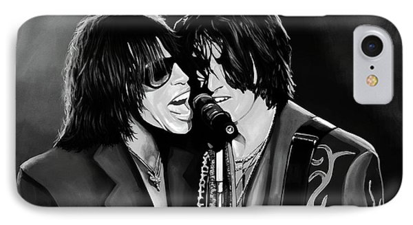 Aerosmith Toxic Twins Mixed Media IPhone Case