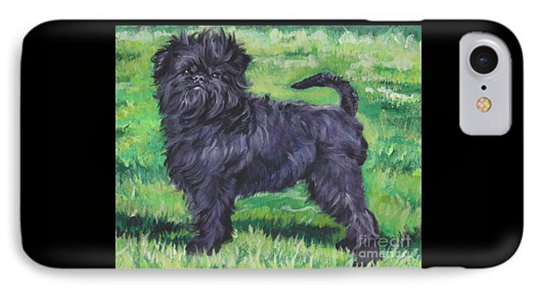 IPhone Case featuring the painting Affenpinscher by Lee Ann Shepard