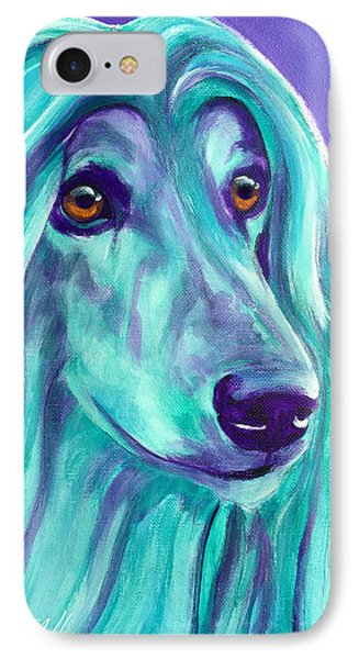 Afghan Hound - Aqua IPhone Case by Alicia VanNoy Call