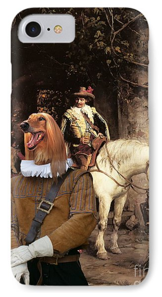Afghan Hound-at The Tavern Canvas Fine Art Print IPhone Case