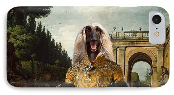 Afghan Hound-the Afternoon Promenade In Rome  Canvas Fine Art Print IPhone Case