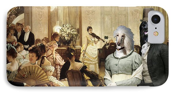 Afghan Hound-the Concert  Canvas Fine Art Print IPhone Case