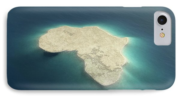 Africa Conceptual Island Design IPhone Case by Johan Swanepoel