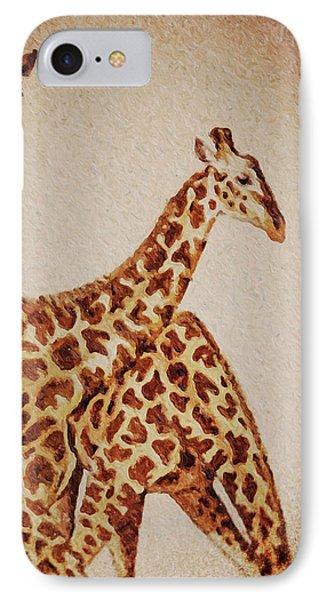 Africa Giraffes IPhone Case by David Millenheft