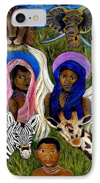 African Angels Phone Case by The Art With A Heart By Charlotte Phillips