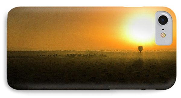 IPhone Case featuring the photograph African Balloon Sunrise by Karen Lewis