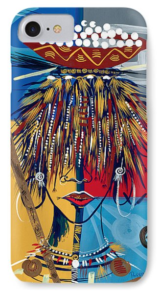 African Beauty 2 IPhone Case by Oglafa Ebitari Perrin