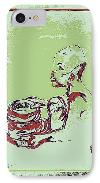 African Boy Blue Phone Case by Sheri Buchheit