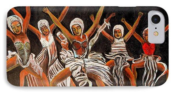 African Dancers Phone Case by Pilar  Martinez-Byrne
