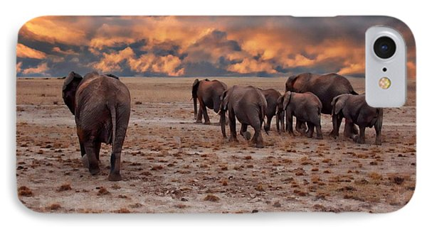 African Elephants IPhone Case
