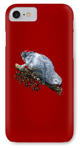 African Grey Parrot A Phone Case by Owen Bell