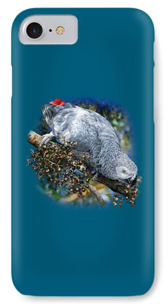African Grey Parrot A1 Phone Case by Owen Bell