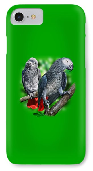 African Grey Parrots A Phone Case by Owen Bell
