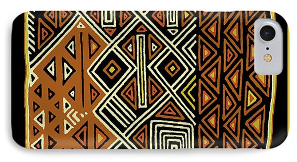 IPhone Case featuring the digital art African Kuba View From Earth by Vagabond Folk Art - Virginia Vivier