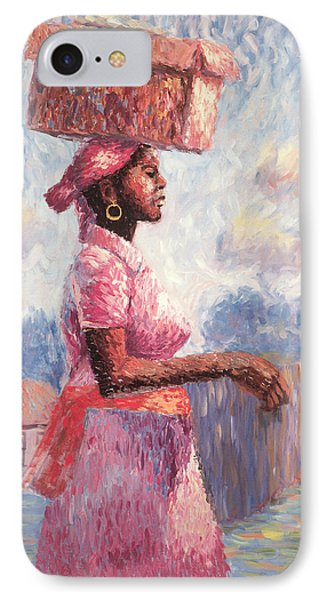 African Lady IPhone Case by Carlton Murrell