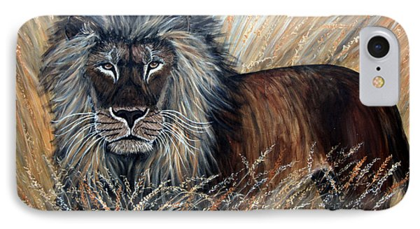 African Lion 2 IPhone Case
