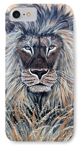 African Lion Phone Case by Nick Gustafson