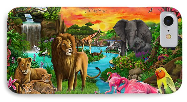 African Paradise IPhone Case by Gerald Newton