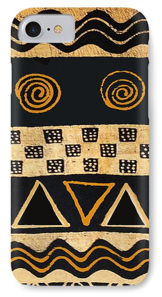 IPhone Case featuring the digital art African Primordial Spirits - 2 by Vagabond Folk Art - Virginia Vivier