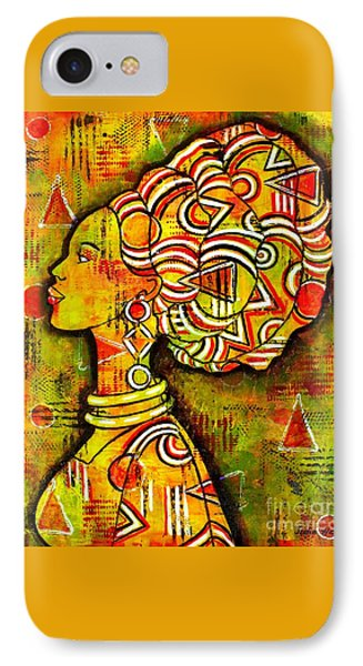 IPhone Case featuring the painting African Queen by Julie Hoyle