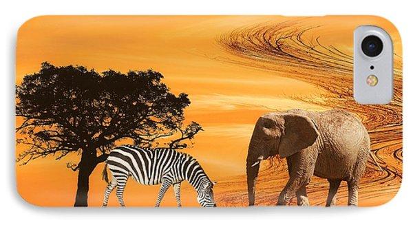 African Safari Phone Case by Sharon Lisa Clarke