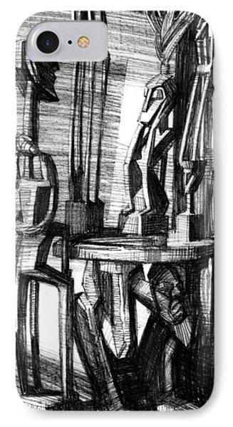 African Statues IPhone Case by Igor Sakurov