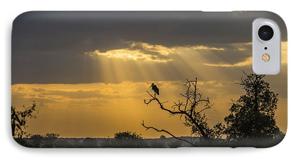African Sunset 2 IPhone Case by Kathy Adams Clark