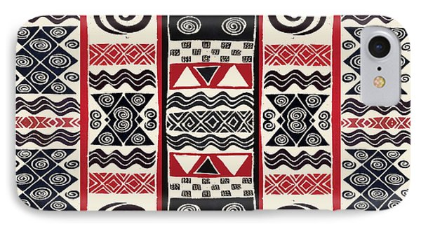 African Tribal Ritual Design IPhone Case by Vagabond Folk Art - Virginia Vivier
