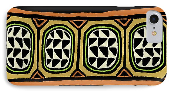 IPhone Case featuring the digital art African Tribal Textile by Vagabond Folk Art - Virginia Vivier