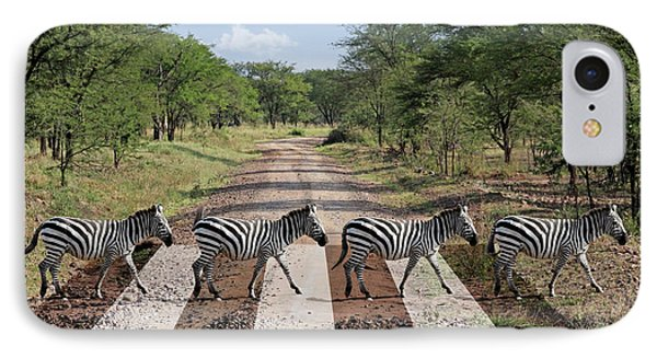 African Zebra Crossing IPhone Case by Gill Billington