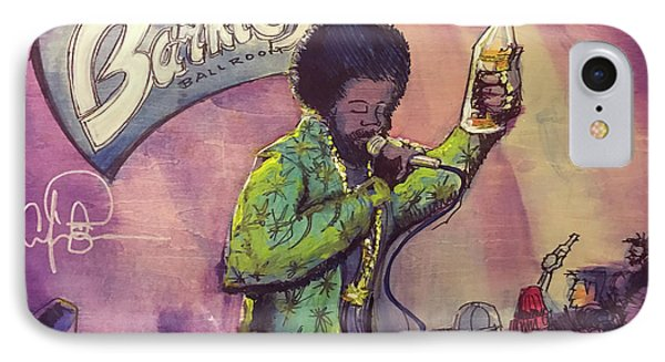 IPhone Case featuring the painting Afroman At Barkleys by David Sockrider
