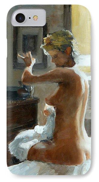 After Her Bath Phone Case by Ann Radley